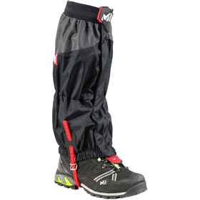 Millet High Route Gaiters Unisex, black/red